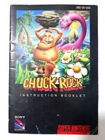 Chuck Rock SNES Super Nintendo Instruction Manual Booklet Book Only