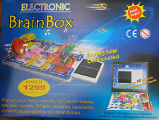 MASSIVE 1299 BRAINBOX ELECTRONIC KIT LED SOLAR PANEL VU METER SNAP CIRCUITS