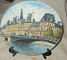 L'Hotel de Ville De Paris collector plate Henri D'Arceau Limoges