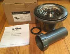 Kraus Stainless Steel Strainer Basket Set For Kitchen Sink ST-2 NEW FreeShipping