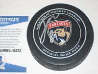 JONATHAN MARCHESSAULTSigned Florida PANTHERS Official GAME Puck w/ Beckett COA