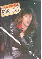 "BON JOVI California plates magazine PHOTO / Pin Up / Poster 11x8"""