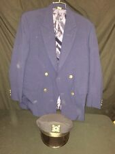 Disney Cruise Ship Outfit - Mens Navy Blue BLAZER & HAT 40R