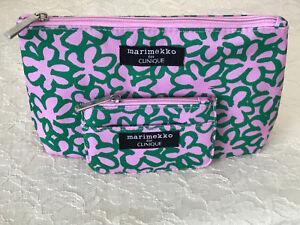 Clinique Marimekko PINK Cosmetic Bag & Credit Card Case LIMIT EDITION 2018 NEW