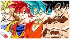 Cialda in ostia per torta GOKU TRASFORMAZIONI personalizzata,NOME Goku