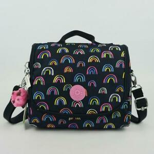 KIPLING KICHIROU Insulated Lunch Bag Rainbow Scatter