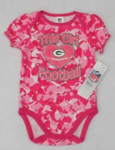 NFL Green Bay Packers Newborn Pink Girls Camouflage Creeper 3-6 Months