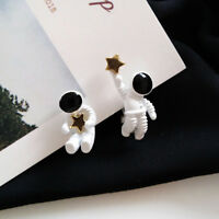 Stud Earring Star Astronaut Planet Cartoon Clip Earrings Jewelry Girl Gift Alloy