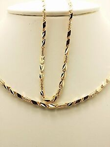 18k Solid Rose Gold Italian Diamond Cut Necklace Chain 9.59 Grams