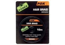 New Fox Edges Hair Braid Brown 10m CAC565 - Carp Fishing Terminal Tackle Setup