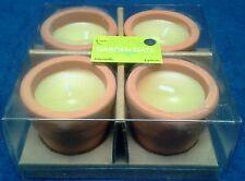 Adorable 4 piece Tea Cotta Pot Citronella Candles by Garden Gate Designs