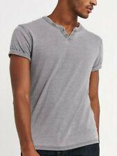 Men's Lucky BRAND Venice Burnout Notch Henley Shirt 2xl XXL 7m62161 Gray