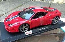 Ferrari 458 Speciale - Red - 1/18 Maisto Diecast Model