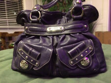 Kathy Van Zeeland Purple Satchel Purse Handbag NICE!