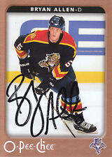 BRYAN ALLEN PANTHERS AUTOGRAPH AUTO 06-07 O-PEE-CHEE OPC #222 *25777