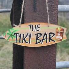 Tiki Bar Sign Hanging Bar Plaque Beer Cocktail Beach Decoration Sign Friend Gift