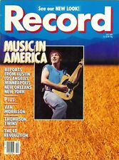 Bruce Springsteen cover RECORD magazine 1985 The Thompson Twins Van Morrison