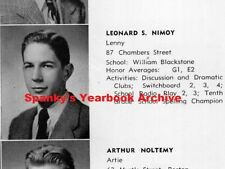 1940s High School Yearbook w/ sr LEONARD NIMOY ~ Star Trek ~ Mr. Spock ~ Zombies