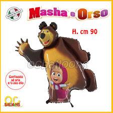 MASHA E ORSO PALLONCINO Compleanno Party Bambini Festa Gas Elio Sagoma Orso