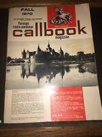 1970 Foreign Radio Amateur Callbook Magazine Sept.October,November