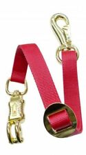 "Trailer Tie 1"" x 24"" Red Nylon has Quick Release Brass Panic Snap & Bull Snap"