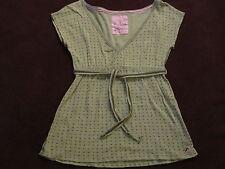 Womens Hollister Holister Green Polka Dot Knit Swing Top Shirt sz  M 100% Cotton
