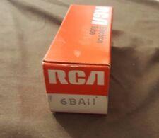 Vintage Rca Electron Tubes 6Baii 6Ba11 Radio Tv Nos New In Box