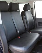 Passform Kunstleder Transporter Sitzbezüge VW T5, Doppelbank vorn, 04/03-08/09