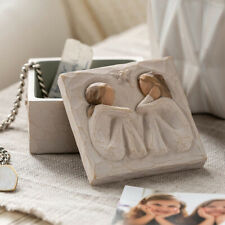 More details for willow tree friendship sculpted hand-painted keepsake box graduate party g c gh