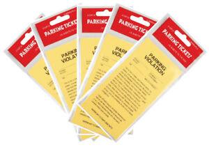 5x 25 pc = 125 pc Yellow Parking Ticket Violations Novelty Gag Fake Prank Sheets