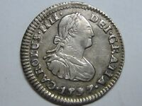 1797 MEXICO 1/2 REAL CHARLES IV SPANISH COLONIAL SILVER SPAIN