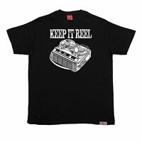 Keep It Reel T-SHIRT Cassette Old Skool Tape Player Music Funny Christmas gift