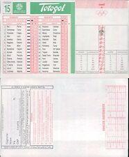 TOTOGOL R@R@  SCHEDA  N.15  A 30 PARTITE DEL 18 12 1994