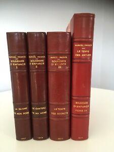 Edition originale PAGNOL Souvenirs d'enfance 1957/1958/1960/1977