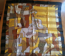 Pablo Picasso Large Scarf Large Man Or Woman Cubism Design Brown White Gold