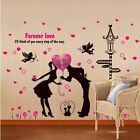 Wall Sticker Forever Love Angel Cat Romantic Pail Tv Background Home Decoration