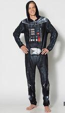 Star Wars Darth Vader Adult Pajama Body Suit Liscenced Medium Fleece Costume