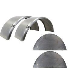 "Pair of Round Trailer Fenders (14""-16"" wheels) & Fender backs T68EX2WFB"