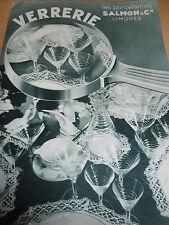 catalogue de verrerie SALMON Limoges ( ref 7 )