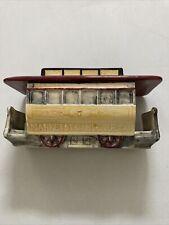 San Francisco Market Streetcar Trolley Cable Train Figure Display Personal Box