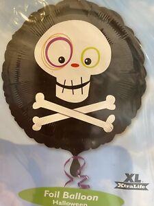 "18"" Anagram Halloween Foil Helium Balloon Skull Skeleton Party"