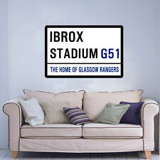 FOOTBALL ST SIGN ON AN 18 x 24 INCH CANVAS.READY TO HANG. GLASGOW RANGERS IBROX