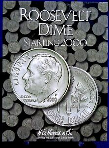 HE Harris Roosevelt Dime Starting 2000 Coin Folder, Album Book #2941