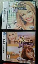 Hanna Montana   (Nintendo  DS, 2006) Game, book, case