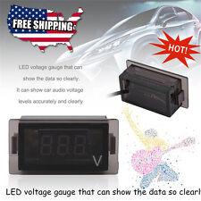 12v Voltmeter 3-Digit Blue Led Voltage Meter Display Gauge Usa B2