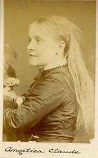 Angelica Claude, 1880 Vintage albumen print  Tirage albuminé  6x9  Circa 1
