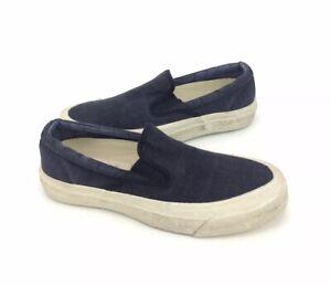 NEW Converse x John Varvatos Deck Star '67 Slip Shoes Sneakers Blue Womens Sz 7