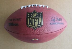 """OFFICIAL LA CHARGERS WILSON """"THE DUKE"""" NFL GAME FOOTBALL GOODELL COMMISSIONER"""