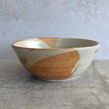 Vintage Reg Preston Pottery Bowl Australian Studio Pottery Signed Artisan