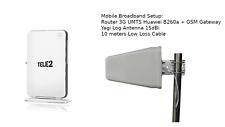 Huawei B260a 2G 3G Wifi Router External Antenna Yagi 15dbi 10m RJ11 GSM gateway